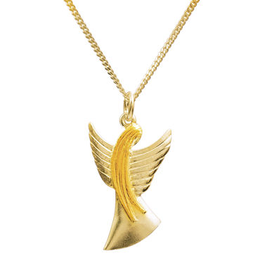 Guardian Angel, pendant, gold