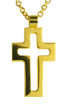 Small Open Cross, gold