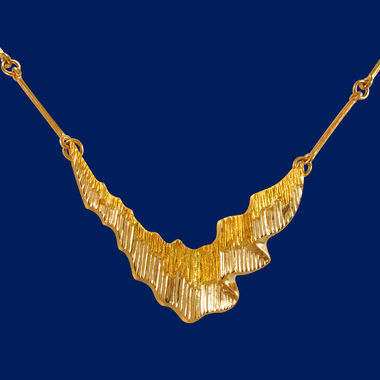 Northern lights, necklace big, gold