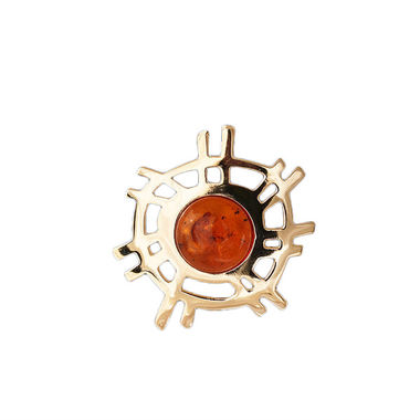 The Sun, brooch, gold