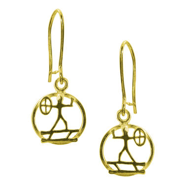 The Shaman, earrings small, gold