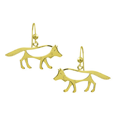 The Wolf, earrings, gold