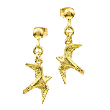 Peregrine,earrings (studs),gold
