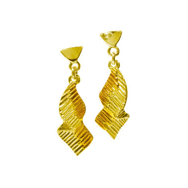 Northern lights, earrings medium, gold