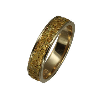 Gold Nugget ring, 6mm