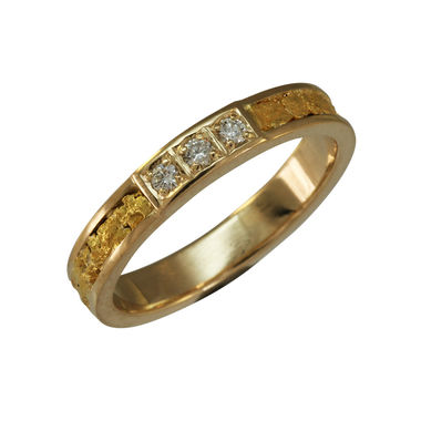 Gold Nugget Ring, 3,5mm