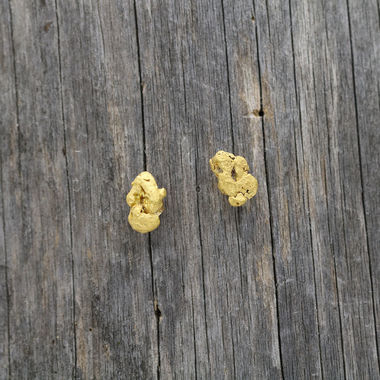 Copy of Gold nugget earrings
