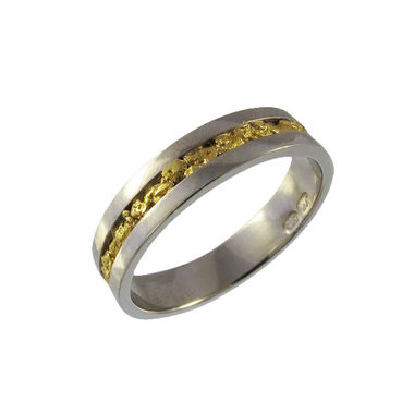Wedding ring, gold nuggets