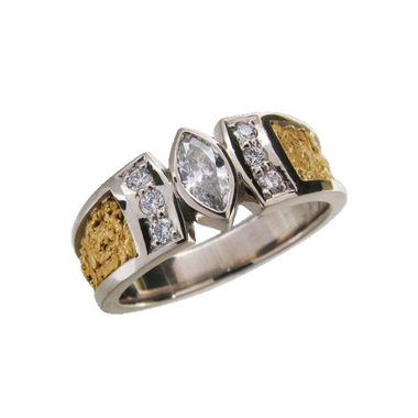 Diamond ring, gold nuggets