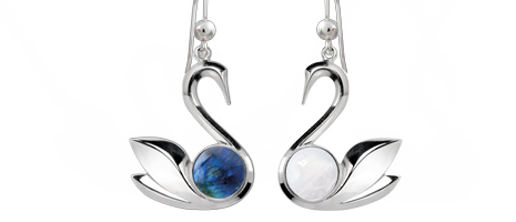 Earrings - Swan
